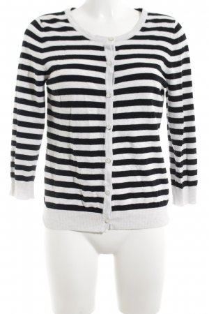H&M Cardigan schwarz-weiß Streifenmuster Casual-Look