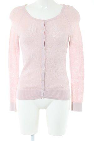 H&M Cardigan pink Blumenmuster Business-Look