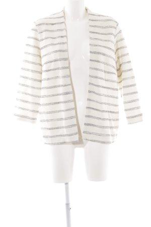 H&M Cardigan creme-schwarz Streifenmuster Street-Fashion-Look