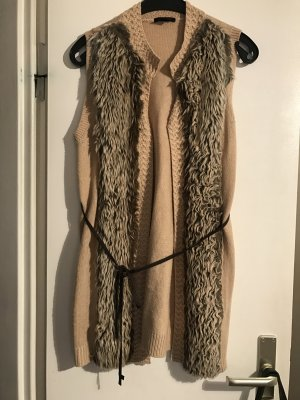 H&M Fake Fur Jacket camel