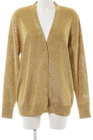 H&M Cardigan goldfarben extravaganter Stil