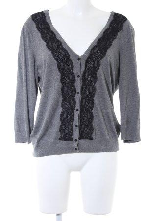 H&M Cardigan grau-schwarz klassischer Stil