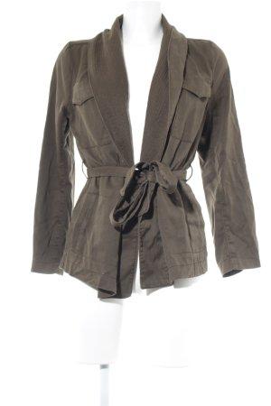 H&M Cardigan grüngrau Webmuster Casual-Look