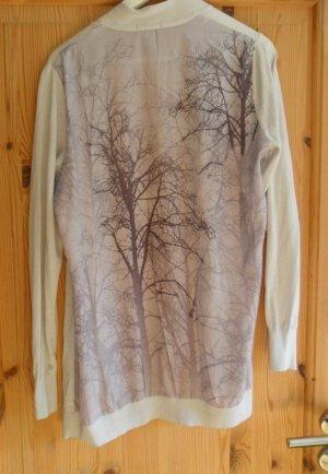 H&M Cardigan, hell-beige, Gr. L, 40/42 Herbst/Winter Motiv Bäume, NEU