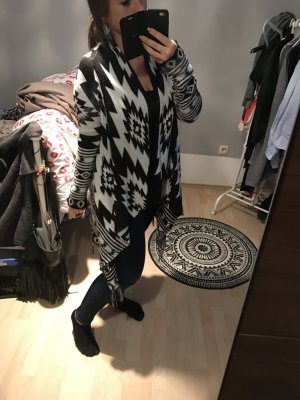 H&M Cardigan in schwarz weiß