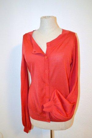 H&M Cardigan Red S Silk Cotton