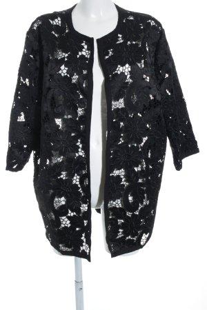 H&M Cardigan schwarz florales Muster Elegant