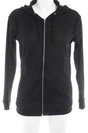 H&M Cardigan schwarz Streifenmuster Gothic-Look