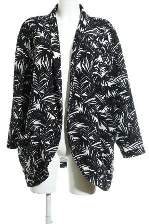 H&M Cardigan zwart-wit bloemen patroon straat-mode uitstraling
