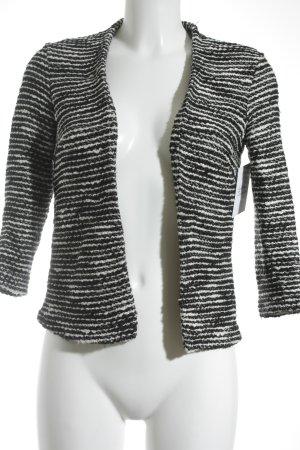 H&M Cardigan schwarz-weiß Streifenmuster schlichter Stil