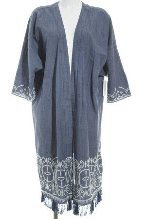 H&M Cardigan stahlblau Boho-Look