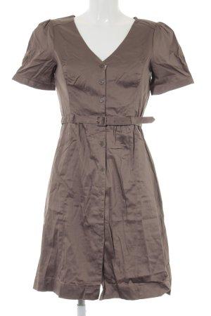 H&M Vestido de camuflaje marrón grisáceo look casual