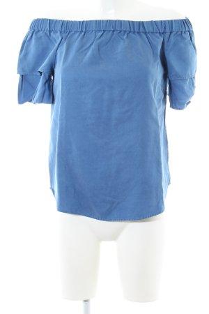 H&M Blusa alla Carmen blu elegante