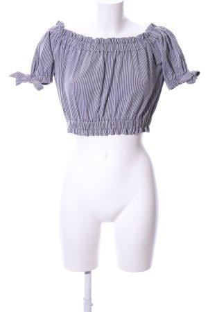 H&M Carmen-Bluse schwarz-weiß Streifenmuster Casual-Look