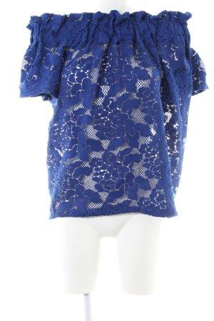 H&M Blusa tipo Carmen azul look casual