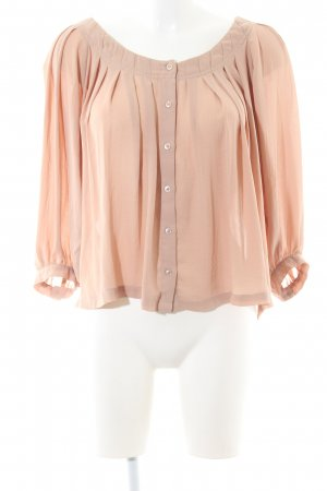 H&M Blusa tipo Carmen nude look casual