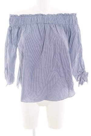 H&M Carmen Blouse blue-white check pattern casual look