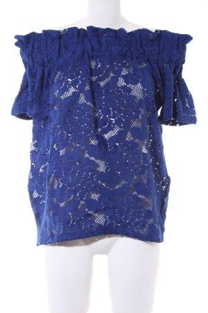 H&M Carmen-Bluse blau Elegant