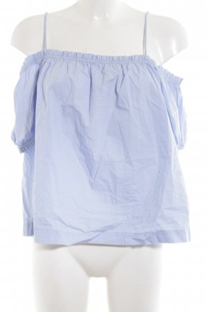 H&M Blusa alla Carmen blu stile casual