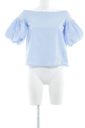 H&M Blusa alla Carmen azzurro Stile Boho