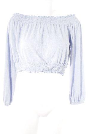 H&M Top épaules dénudées bleu azur style romantique