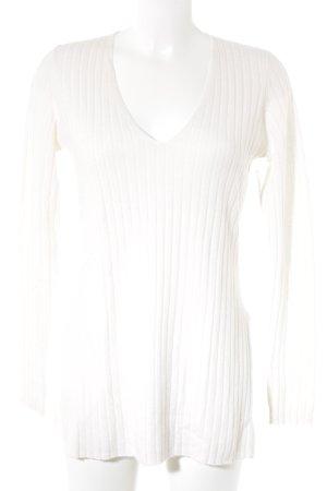 H&M Pull en cashemire crème motif rayé style décontracté