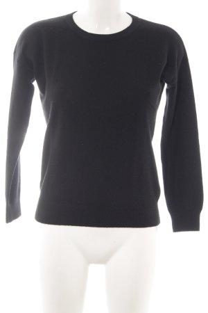 H&M Sudadera de cachemir negro look casual