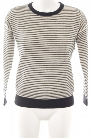 H&M Sudadera de cachemir negro-blanco puro estampado a rayas look casual