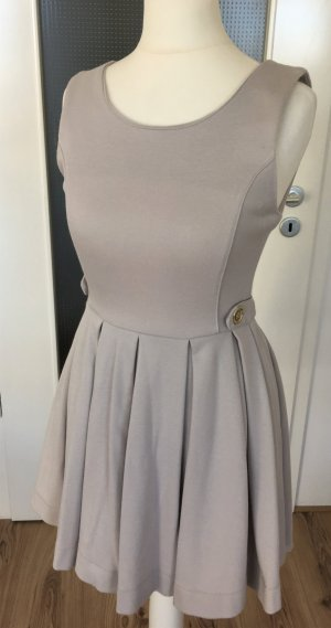 H&M Casual Mini Kleid XS 34 Nude Puder Beige Plissee Cocktail Abend Party Dress