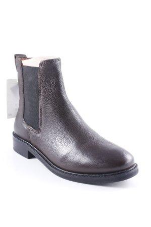 H&M Chelsea Boots dunkelbraun schlichter Stil