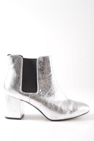 H&M Chelsea Boot argenté-noir style mouillé