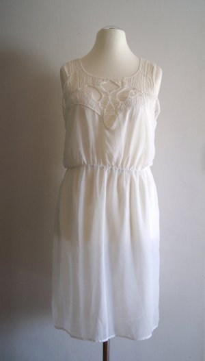 H&M Robe chiffon blanc