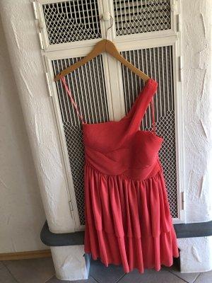H&M Volante jurk lichtrood