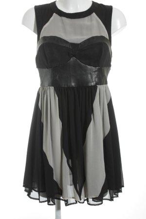 H&M Chiffon Dress black-cream elegant