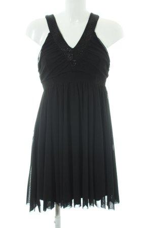 H&M Chiffonkleid schwarz schlichter Stil