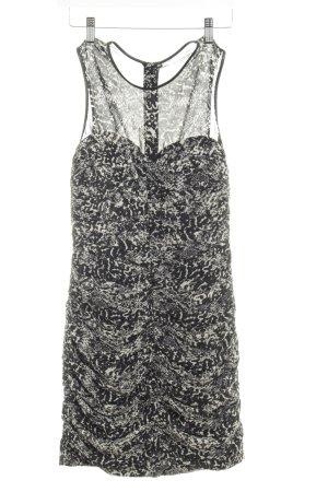 H&M Chiffon jurk zwart-wolwit dierenprint feest stijl