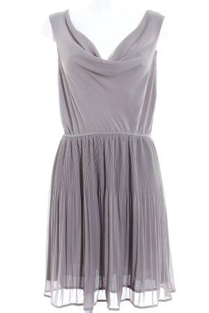 H&M Vestido de chifón taupe-marrón grisáceo elegante