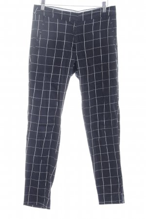H&M Chinos black-white check pattern business style