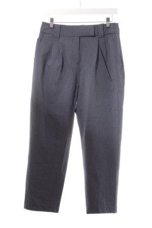 H&M Chinohose weiß-dunkelblau Streifenmuster Casual-Look