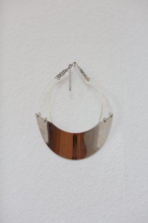 H&M Choker Kette Silver Plexiglass Blogger