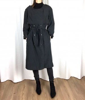 H&M Clean Chic Trenchcoat Mantel Oversize cosy S-M Blogger Trend
