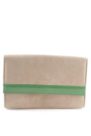 H&M Clutch creme-grün Elegant