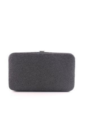 H&M Borsa clutch nero-argento stile professionale