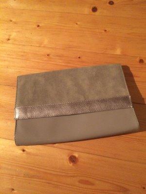 H&M Clutch Beige Bronze NEU