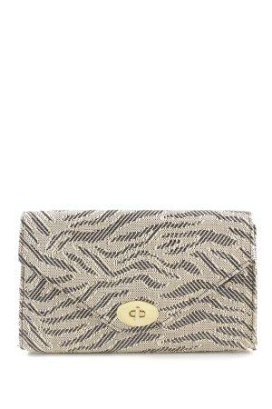 H&M Clutch creme-hellgrau abstraktes Muster Elegant