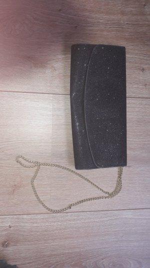 h&m clutch glitzer schwarz