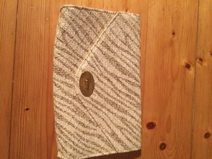 H&M Clutch Gold Creme NEU