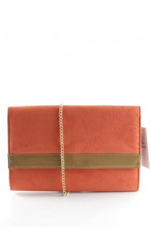 H&M Clutch neonorange-beige Party-Look