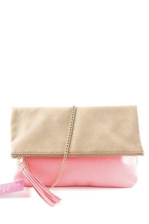 H&M Clutch neonpink-camel extravaganter Stil