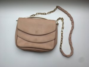 H&M Clutch / nude / Genuine Leather
